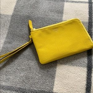 Yellow Fossil wrist wallet